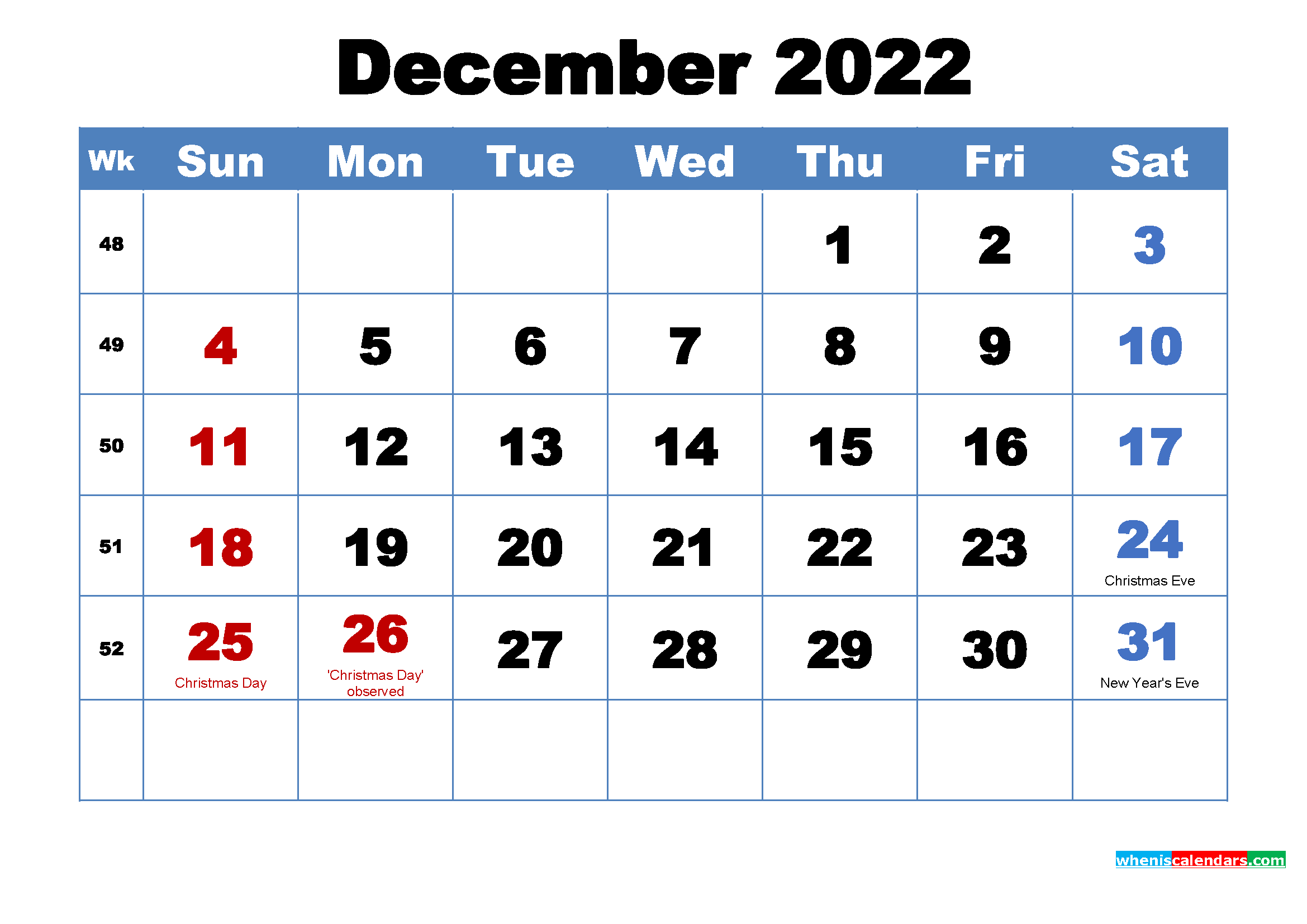 Printable December 2022 Calendar With Holidays Regarding Blank Calendar April 2022 Printable February