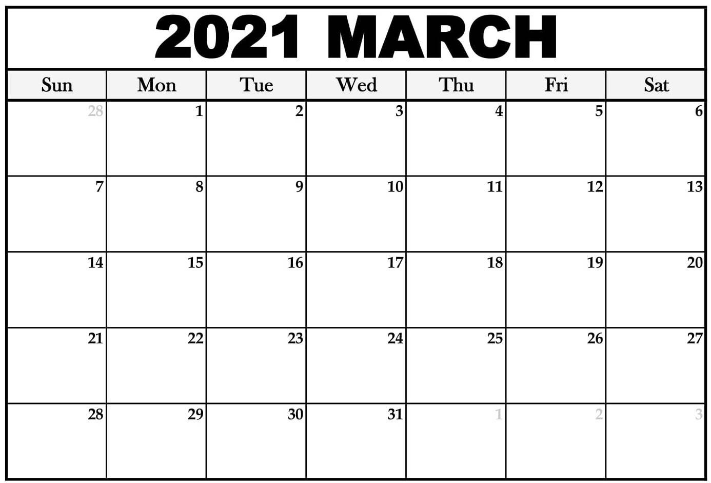 Printable March 2021 Calendar Usa Holidays - Printable within March Holidays 2021 Calendars