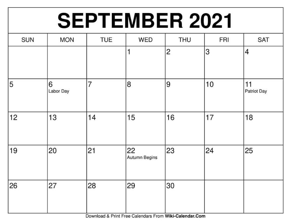 September Calendar 2021 Labor Day | Printable March Inside Wiki January 2022 Calendar